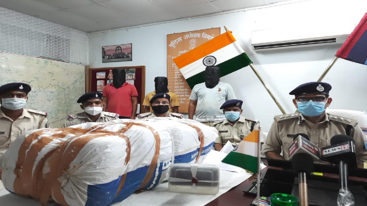 झारखंड: सिमडेगा में पुलिस को बड़ी सफलता, इंटरनेशनल गांजा तस्कर गिरफ्तार, 40 किलो गांजा जब्त