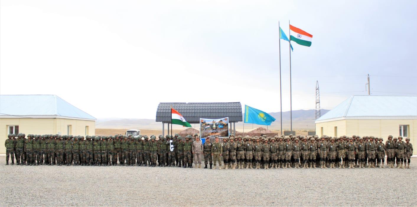 भारत-कजाकिस्तान का ज्वाइंट सैन्य अभ्यास 'KAZIND 21' हुआ पूरा, देखें PHOTOS