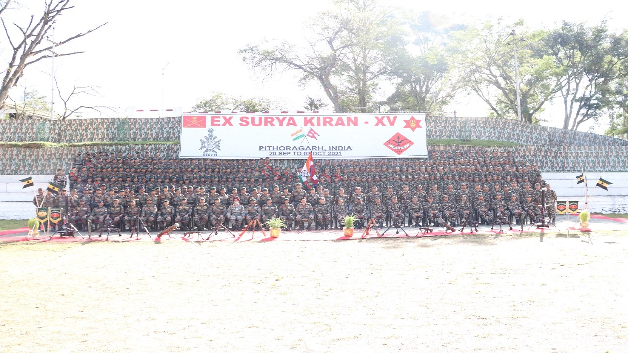 पिथौरागढ़ में शुरू हुआ भारत-नेपाल सेना का संयुक्त युद्धाभ्यास 'Surya Kiran XV', देखें PHOTOS
