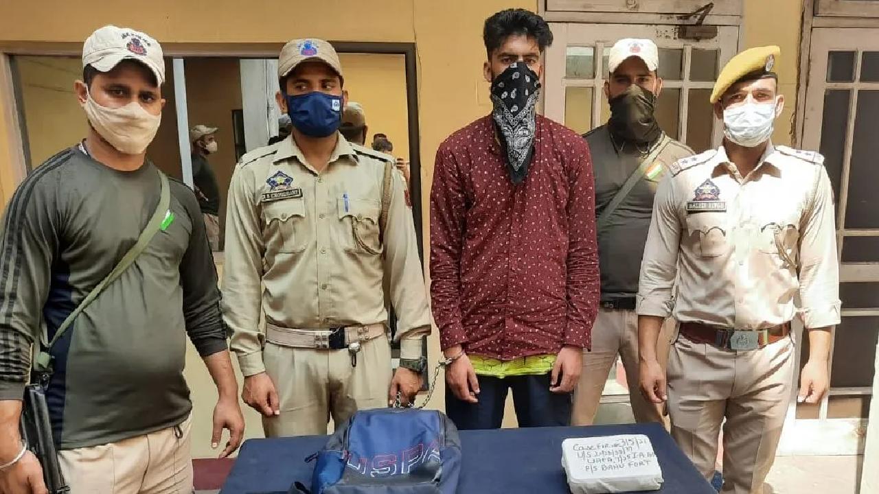 Jammu Kashmir Police arrested a TRF militant near the Railway Station