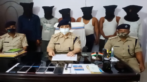 झारखंड: देवघर पुलिस ने ऑनलाइन ठगी गिरोह का किया पर्दाफाश, 6 साइबर अपराधियों को किया गिरफ्तार
