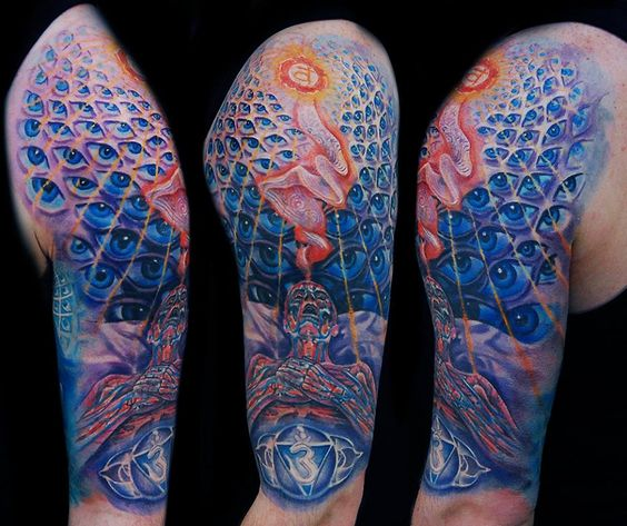 tattoos that will take you on a trip into the mind of alex grey. Black Bedroom Furniture Sets. Home Design Ideas