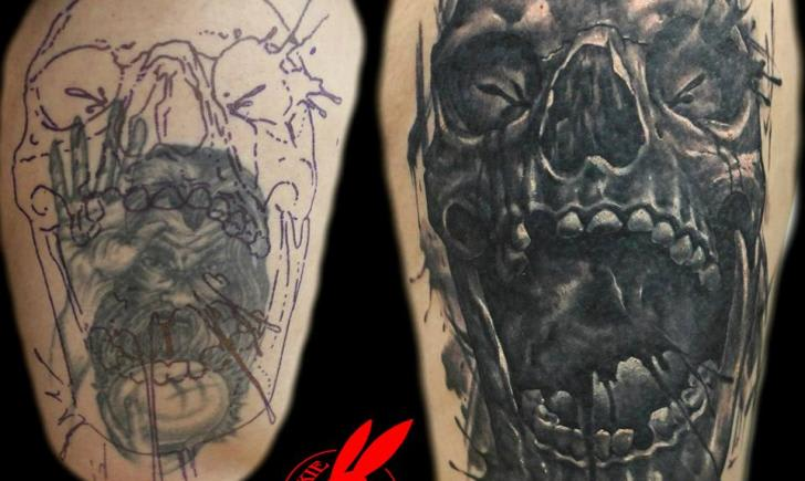 2c317722b When it comes to the tattoo business, one of the hardest tattoos to pull  off is the cover-up. A good quality cover-up requires an artist of  exceptional ...