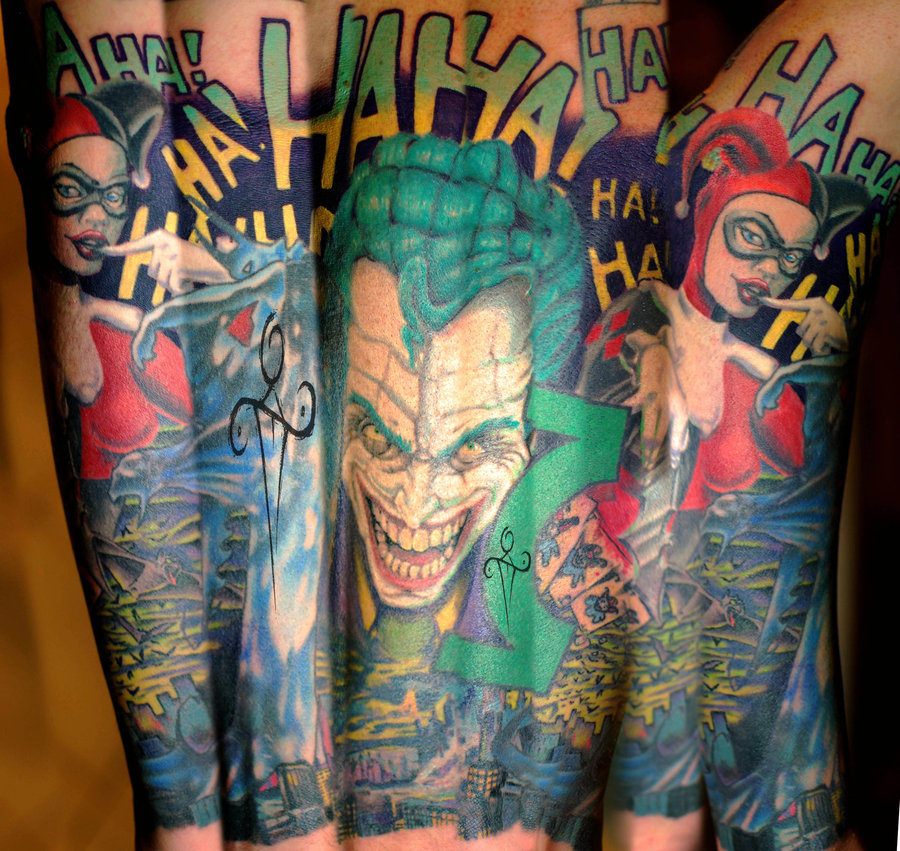 Joker And Harley Quinn Tattoo: Tattoos Of Madly Awesome Villainess Harley Quinn
