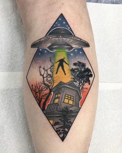 UFO tattoo by stephanie_melbourne