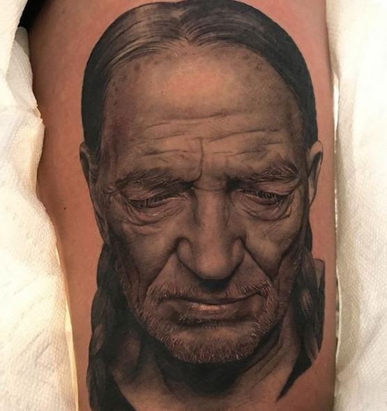 Willie Nelson portrait by @jamiemahood