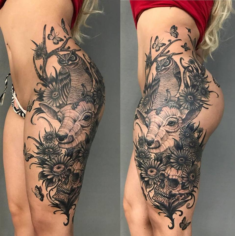 Sexy tattoo by @josephhaefstattooer