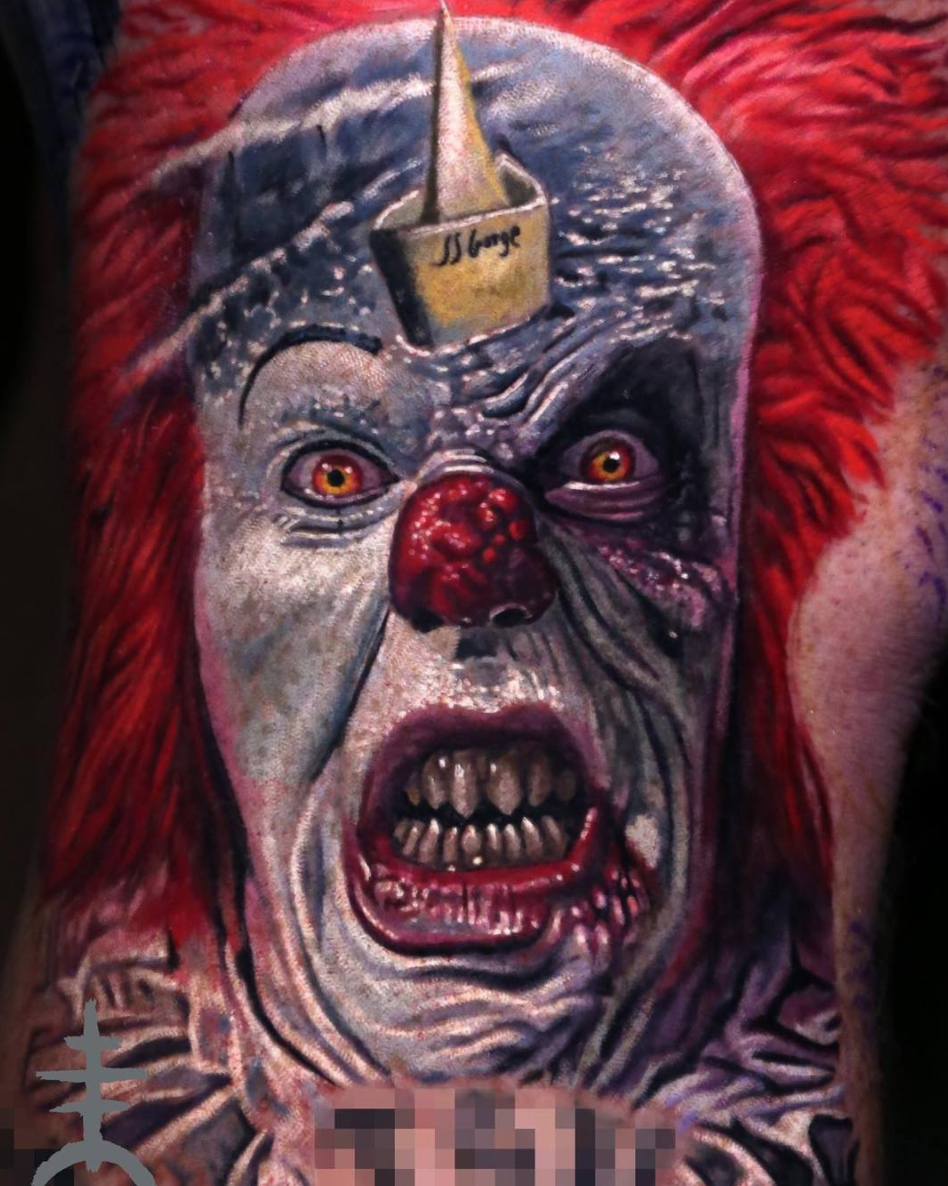 Pennywise tattoo by @el_mori_tattooartist