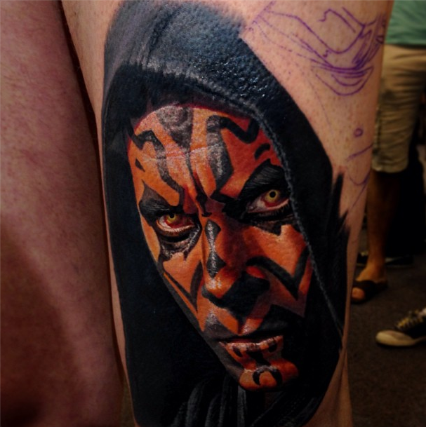 10 star wars tattoos that will convince you to join the dark side. Black Bedroom Furniture Sets. Home Design Ideas