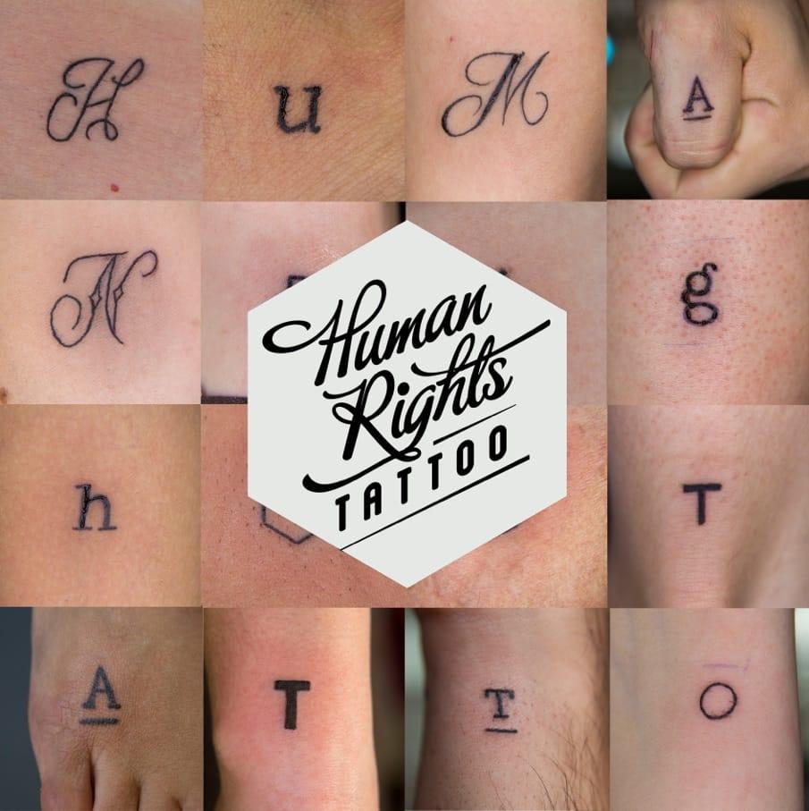 Support Human Rights Through This Stunning Reminder Tattoocom