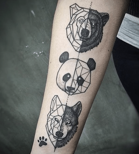 10 Geometric Wildlife Tattoos That Are The Best Of Both Worlds