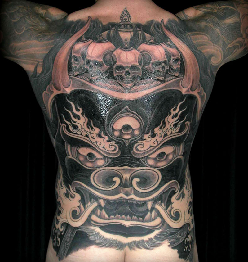 Back Piece Tattoo by Filip Leu