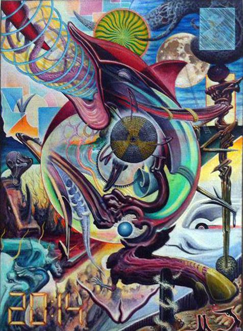 Filip Leu's painting