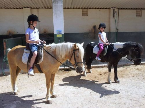 Pony ride and snack for children