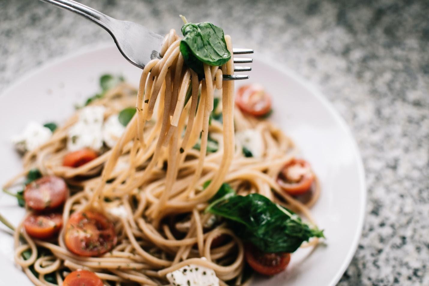 Spaghetti with Salad