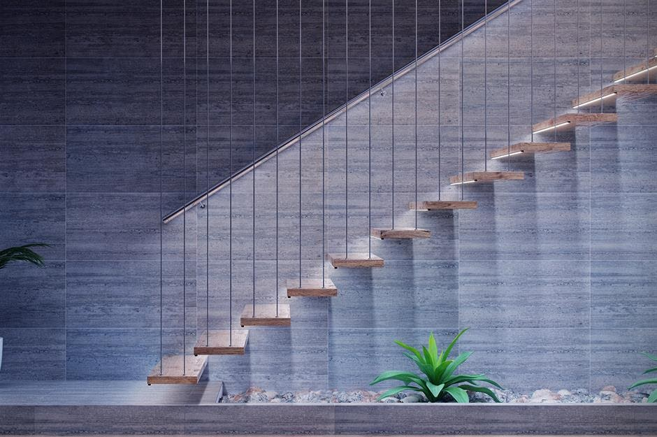 Suspended Floating Staircase