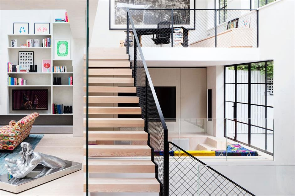 Contemporary Metal Staircase