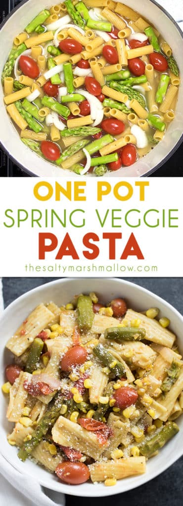 One pot spring veggie pasta