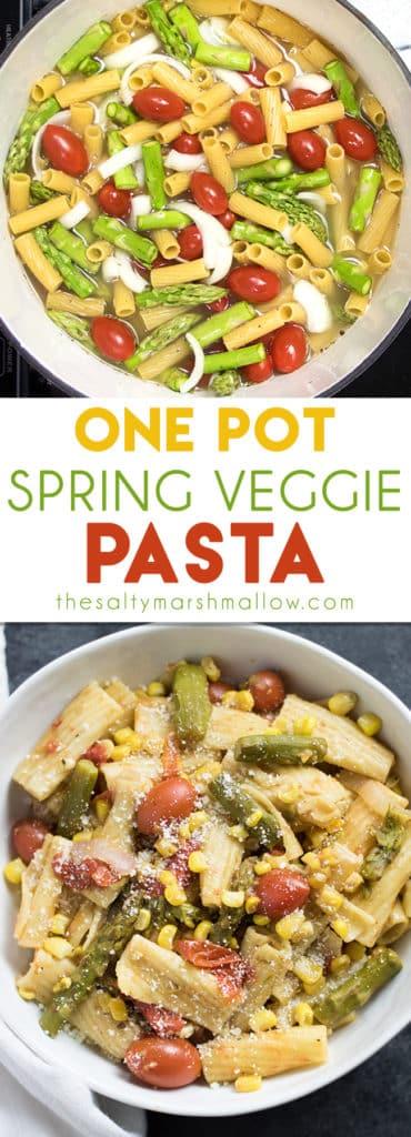 One pot spring veggie pasta