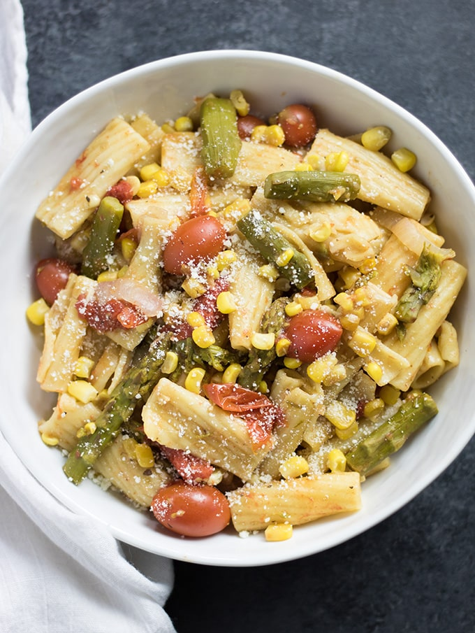 one pot pasta with vegetables