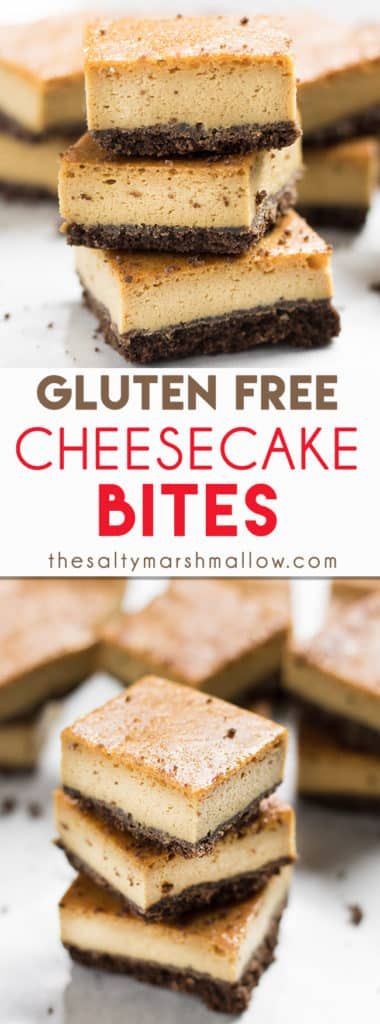 gluten free cheesecake bites
