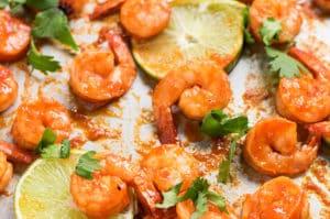 Sheet Pan Honey Lime Sriracha Shrimp