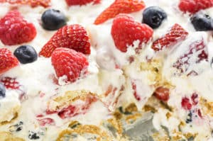 No Bake Berry Icebox Cake