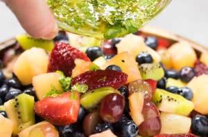 Honey Lime Mojito Fruit Salad