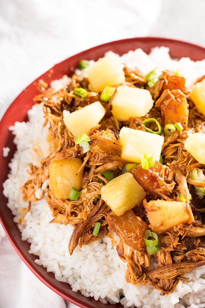 Crockpot Hawaiian Bbq Chicken The Salty Marshmallow