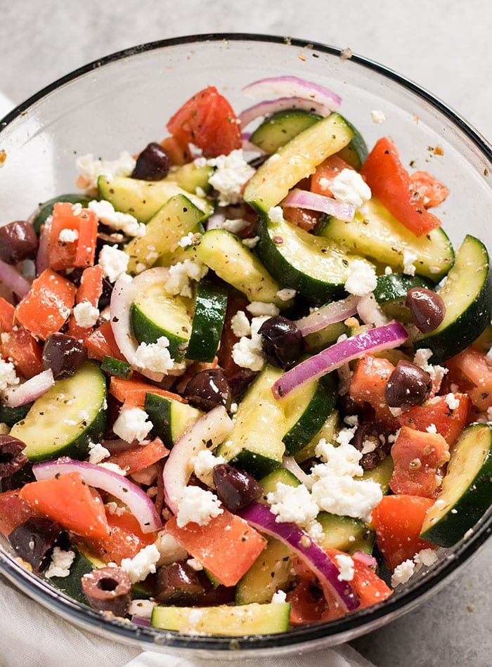 quick and easy greek cucumber salad