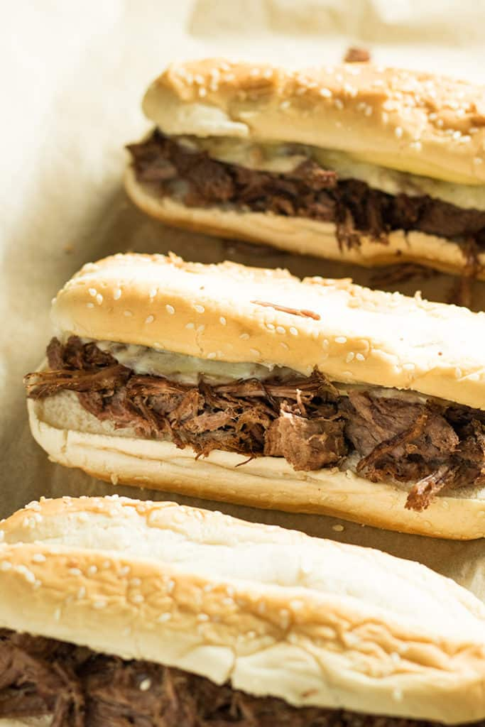 instant pot or crockpot french dip