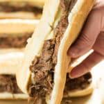 instnat pot or crockpot french dip sandwich