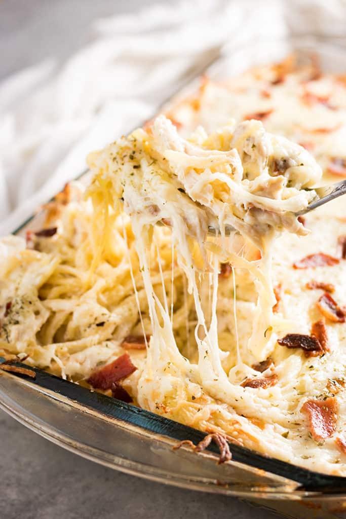 Million dollar chicken spaghetti is an easy to make chicken spaghetti casserole!