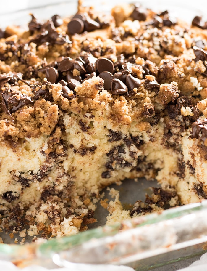 chocolate chip easy breakfast cake