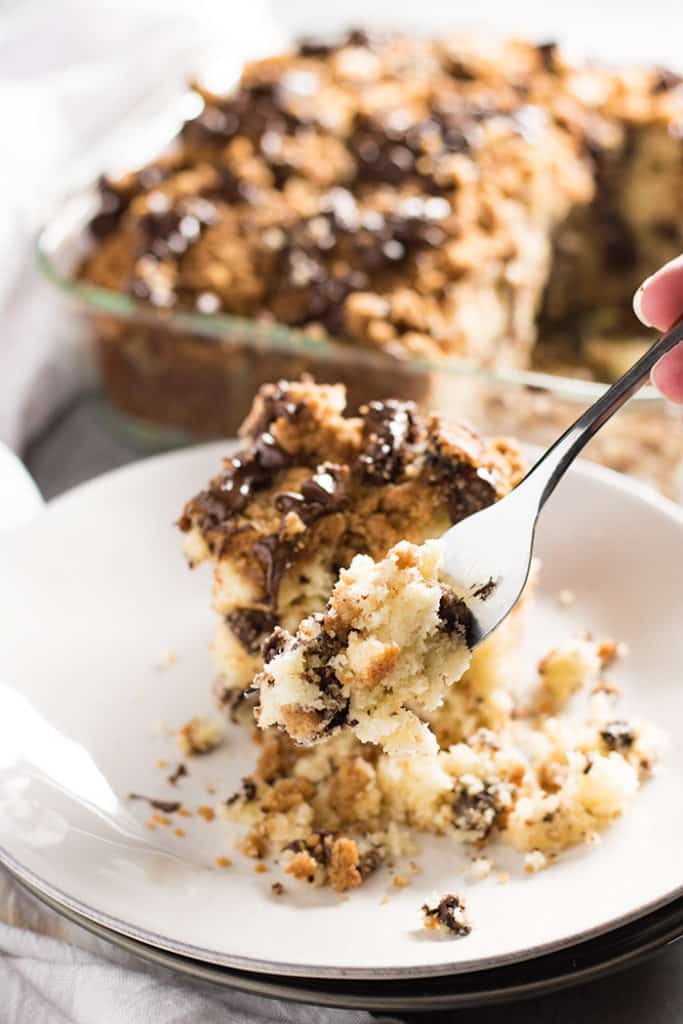 chocolate chip coffee breakfast cake