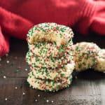 The best easy Christmas Sprinkle Cookies