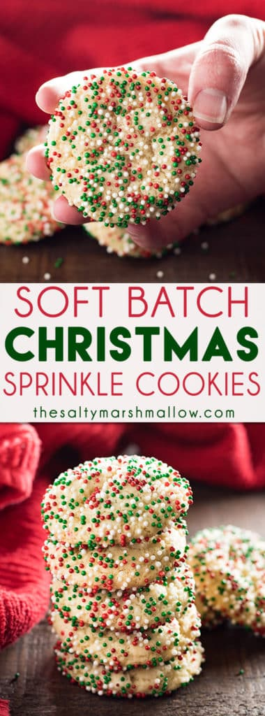 soft batch christmas sprinkle cookies are a super easy holiday sugar cookie no rolling the - Christmas Sprinkles