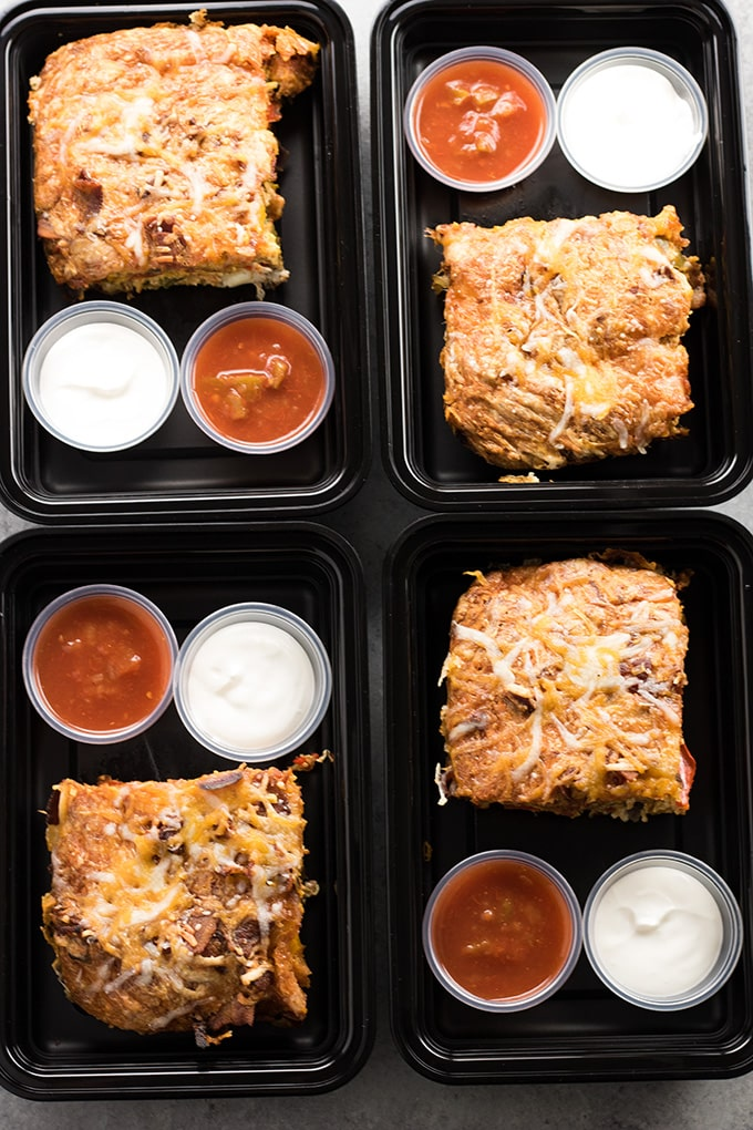 bacon fajita breakfast casserole meal prep option
