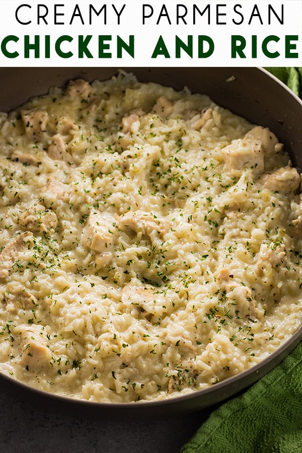 creamy parmesan chicken and rice