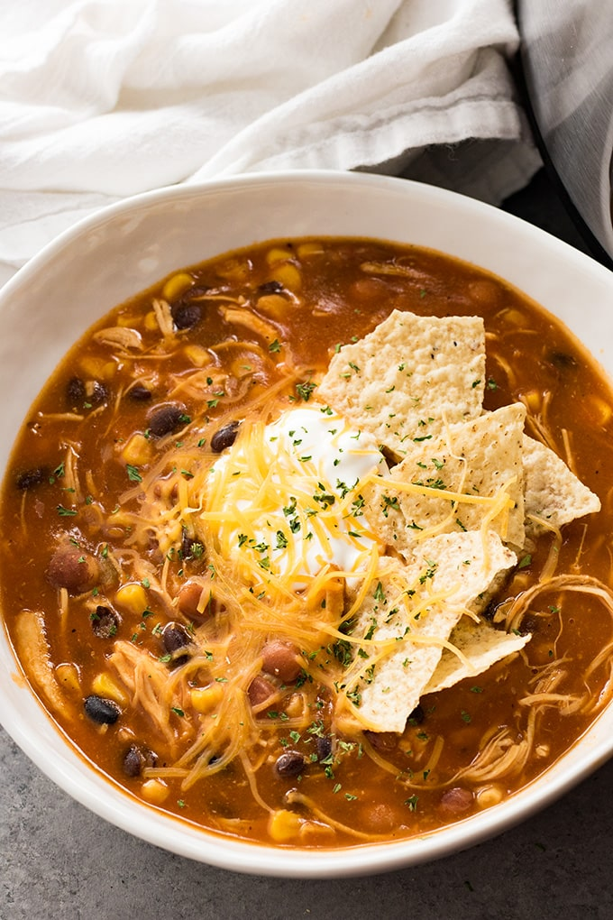 Chicken Taco Instant Pot Soup