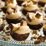 Brownie cups with peanut butter