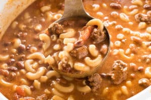 crockpot chili macaroni soup