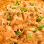 buffalo chicken dip made in the crockpot