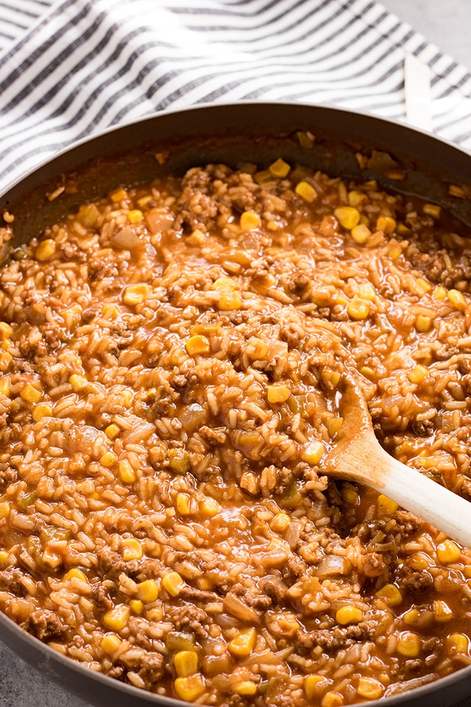 mexican ground beef and rice casserole