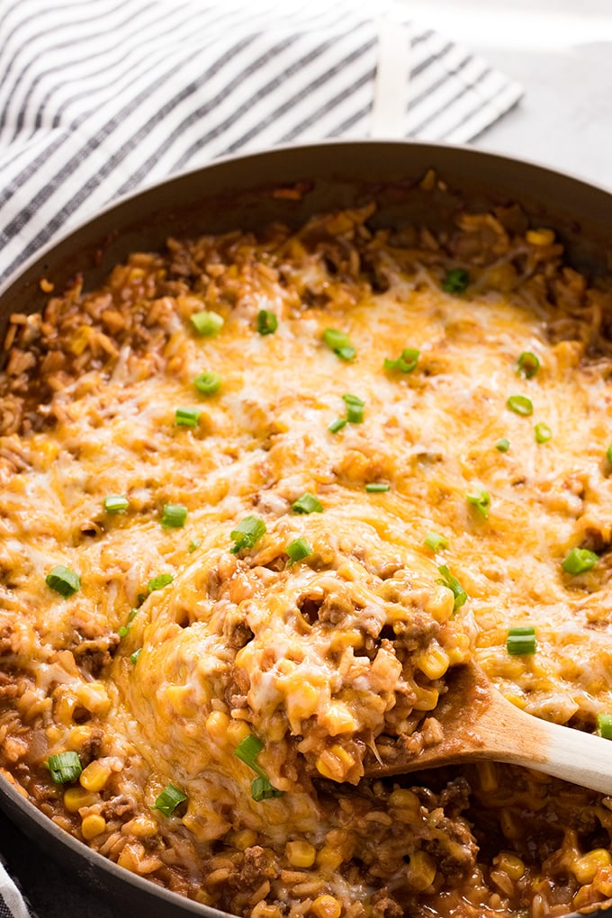picture of mexican ground beef rice casserole