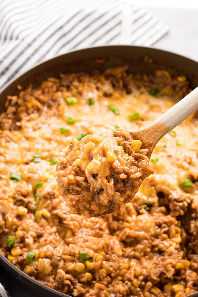 one pot mexican rice casserole using ground beef