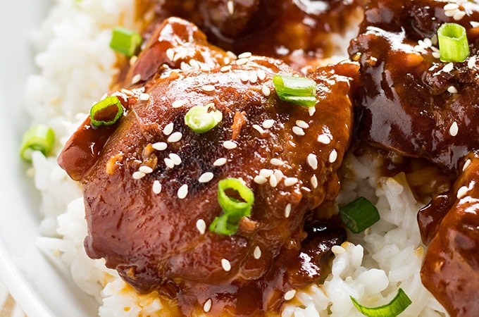Honey Sesame Instant Pot Chicken Thighs The Salty Marshmallow