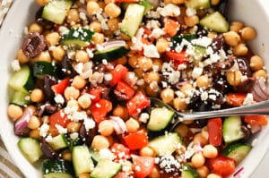 Easy Greek Chickpea Salad