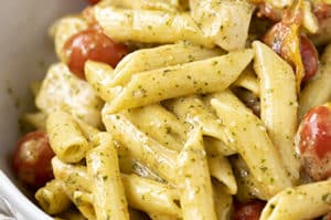 One Pot Creamy Chicken Pesto Pasta