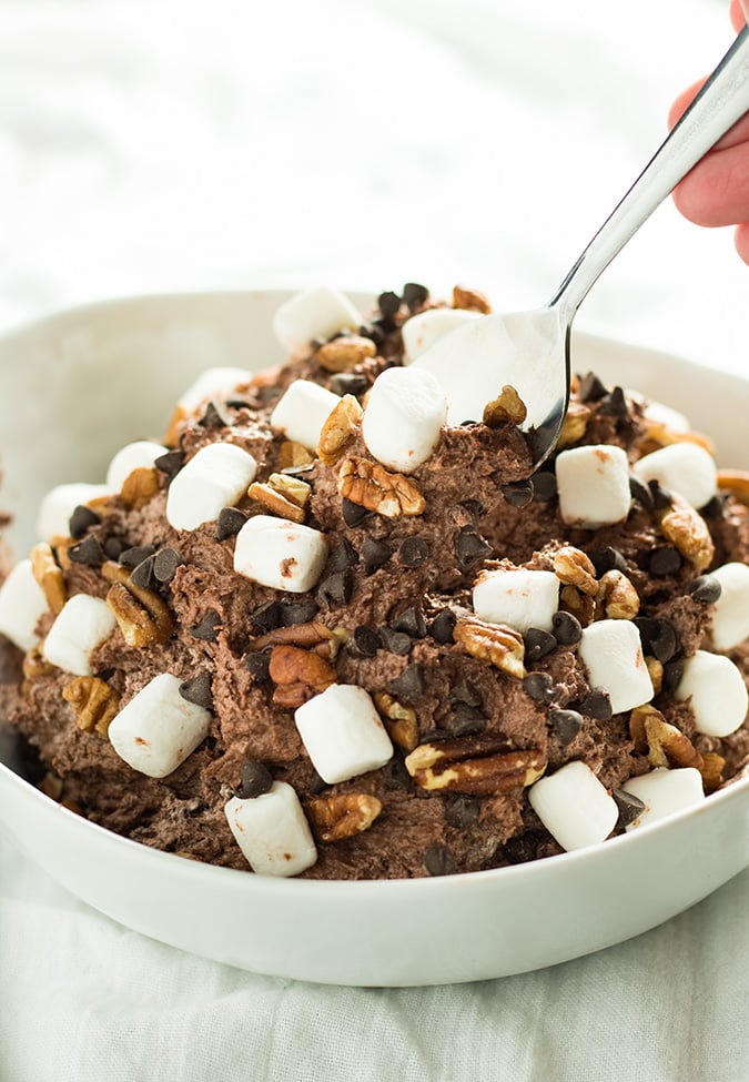 rocky road cheesecake fluff salad